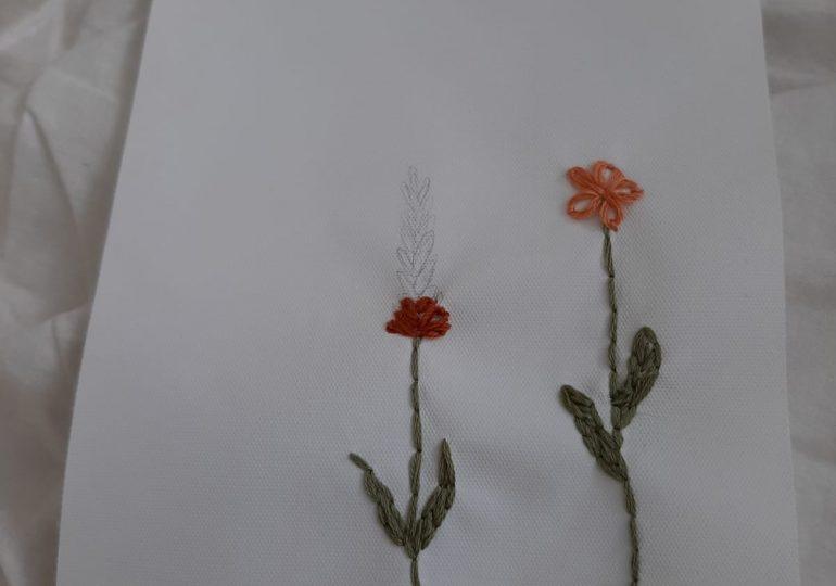 Borduur je bloemen met een platsteek