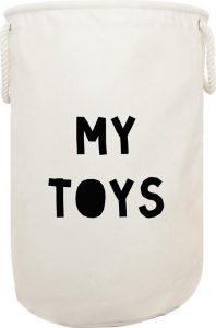 4. Industriëel (en veel meer stijlen) - Speelgoedmand - Bulbby - €29,99 - Deze mand kun je personaliseren, met de naam van je kind of per speelgoedsoort. Zo creëer je een super georganiseerd geheel en is het duidelijk voor kids waar ze hun speelgoed op kunnen bergen.